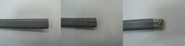 снятие изоляции с греющего кабеля